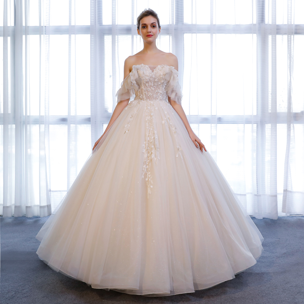 Sl20 Robe De Mariage Wedding Dresses Princess Beaded Ivory Lace Wedding  Gown Plus Size Wedding Dress For Women Made In China   Buy Wedding Party ...