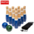 WAFFL's Premium Solid Wooden Lawn Bowling Woods With 10 Bowling Pins For Yard Game