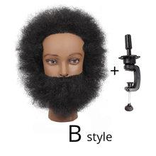Высокое качество, Новое поступление, голова для тренировки с человеческими волосами, афро манекен мужчины, голова для парикмахерской, натур...(Китай)