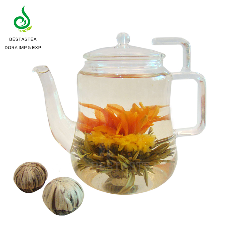 Wholesale Natural Slimming Marigold Blooming Tea Flowering Tea Balls with Good Taste - 4uTea   4uTea.com