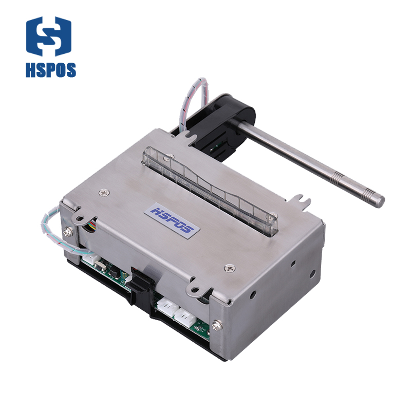 24V 3 inch micro thermal kiosk printer with cutter have USB RS232 interface can Feed paper automatically