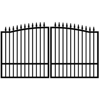 Sliding Gate Design Spear Fencing Flat Spear Top Metal Fence Panel Spear Picket Fence Gate G3015S