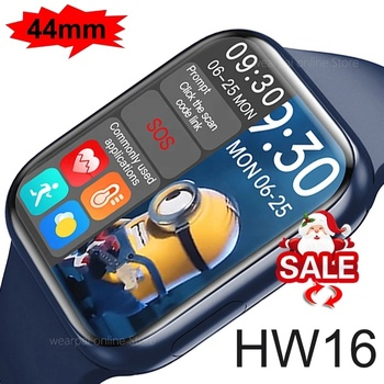 HW16 Iwo Smartwatch 1.72'' 44mm Full Screen sport Fitness Tracker Men Women Smart Watch Series 6 Bracelet For Apple
