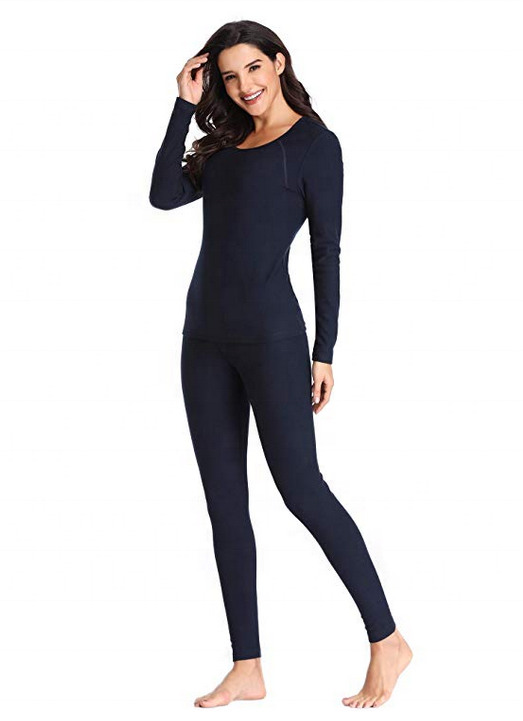 China manufacturer women sports wear long johns thermal underwear cheap wholesale custom
