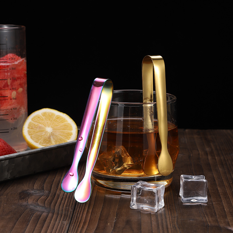 High quality Stainless Steel Mini Multi-color Sugar Ice Cube Tea Food Clip Tongs