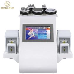 6 In 1 Vacuum Cavitation System 40K Ultrasonic Cavitation Machine 8 Pads Lipo Laser Slim Weight Loss Vacuum Cavitation System