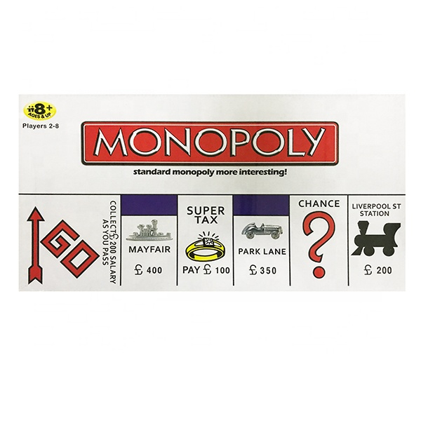 Family Kids Toys English Table Card Game Deal Alec Monopoly For Party