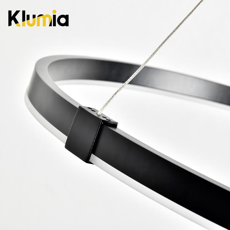 KLUMIA горячая Распродажа Круглые Железные современные подвесные светильники для дома гостиной прозрачные кольца люстра