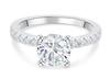 18;Platinum;Round Diamond Ring