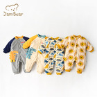 Organic Baby Clothes JamBear Baby Rompers Sleepwear Pajamas 100% Organic Cotton Baby Climbing Clothes Winter Baby Boys Rompers Babe Clothes