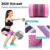 Amazon Hot Selling Custom logo Fabric Elastic Workout band hip exercise bands Fitness Resistance Booty Band set
