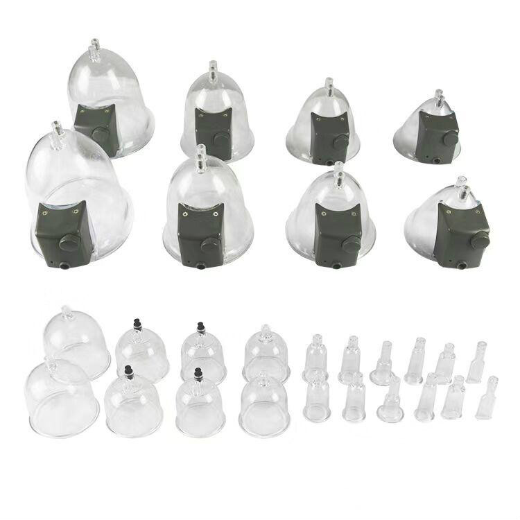 buttocks enlargement cup vacuum electronic breast enhancer massager cupping butt lifting machine with 28pcs' cup