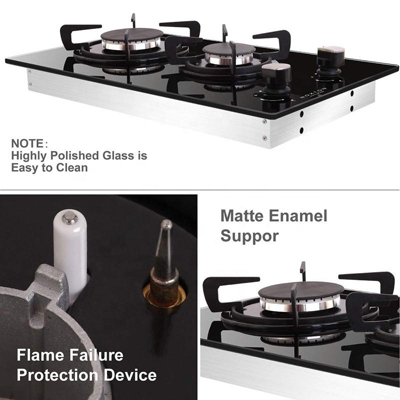 Китайские производители, прямые продажи, Встроенная газовая плита с 2 горелками