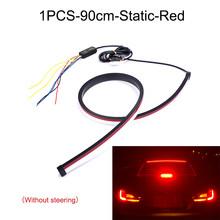 NLpearl автомобильный фонарь в сборе 90 см Светодиодная лента RGB с высоким креплением стоп-сигнал 12 В струящийся гибкий сигнал поворота тормозно...(Китай)