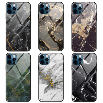 Marble mobile iphone case shockproof Tempered glass phone case Customized logo for iphone 11 iPhone 12 phone cover wholesale