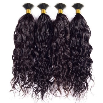 Curly Human Braiding Hair Bulk No Weft Wet and Wavy Different Types of Curly Weave Hair Braiding Hair