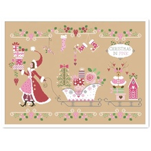 DPC158 Natal subiu pacote de carro do ponto da cruz kit aida 14ct 18ct pano de linho 11ct kit bordado DIY handmade needlework