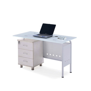 Home furniture student teacher study modern office computer table glass writing desk