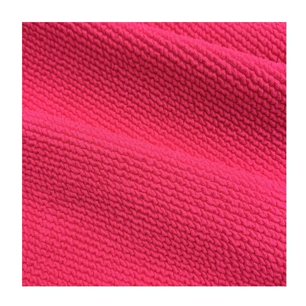customized color knitted rib fabric stripe swimwear bikini jacquard fabric
