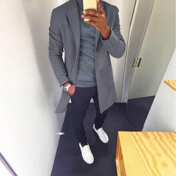 Custom Winter Trench Over Coat New Styles Slim Winter Designer Trench Coats For Men 2021