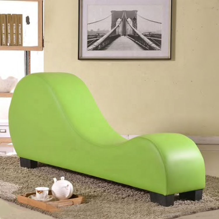 foam chaise lounge  green sex positions chair pu leather upholstery for relaxation fitness yoga chair love sex chair sofa