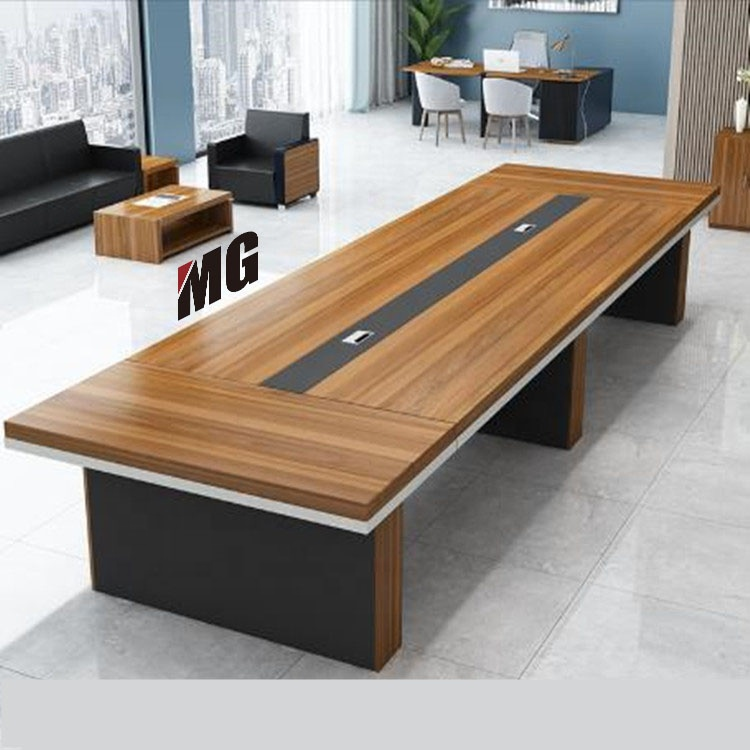 China supplier durable wooden 20 persons conference table meeting desk cheap office conference room desk