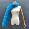 Blue fur sleeve