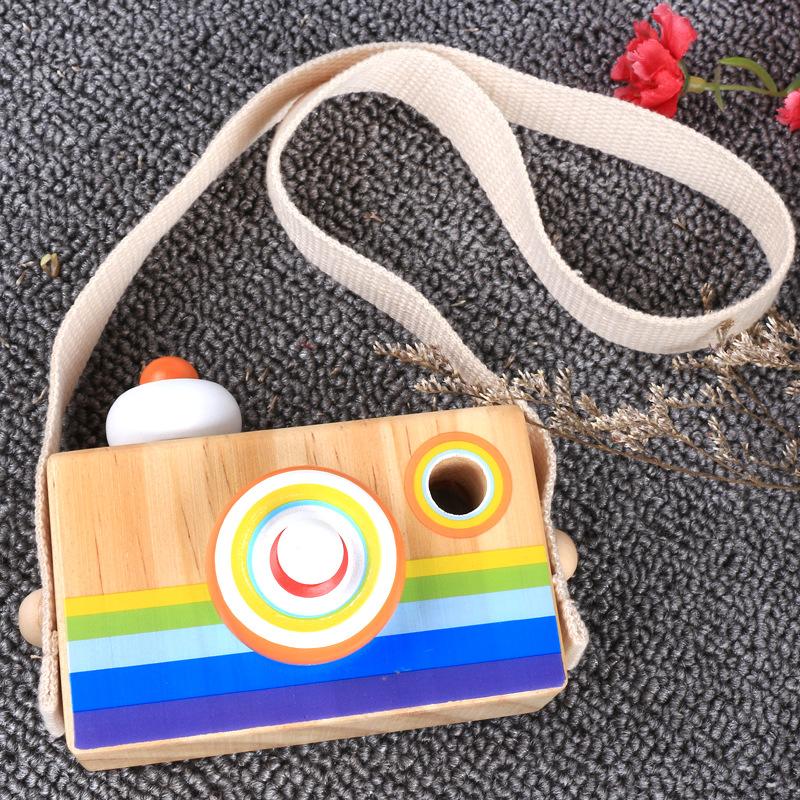 Образовательные пользовательские деревянные игрушки из классического мультфильма игрушечная камера Стиль калейдоскоп для детей, подарок в рекламных целях