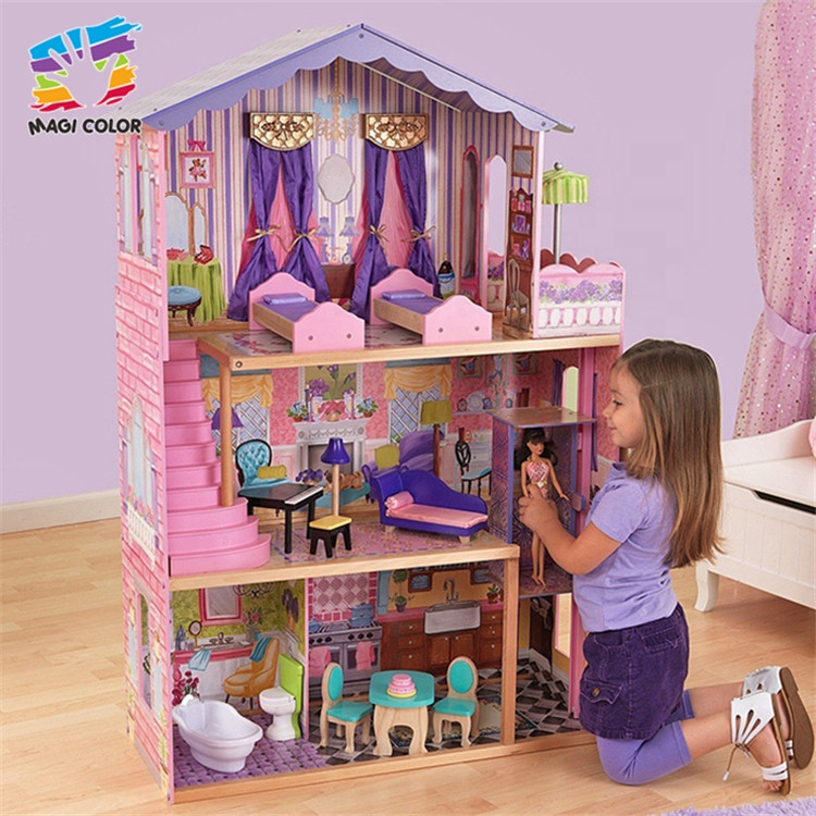Ready To Ship pretend play wooden doll dream house for girls W06A232