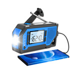 Camping Hiking Disaster Prevention Crank Power Bank Dynamo Solar Emergency light Radio