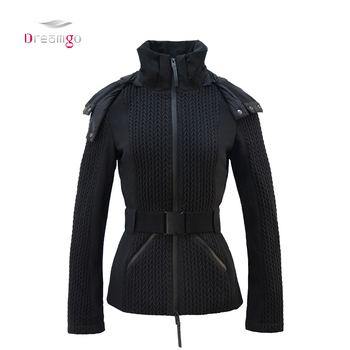 Dreamgo design down puffy warm down ladies waterproof padded coat winter padding coat for womens quilted jackets puffer