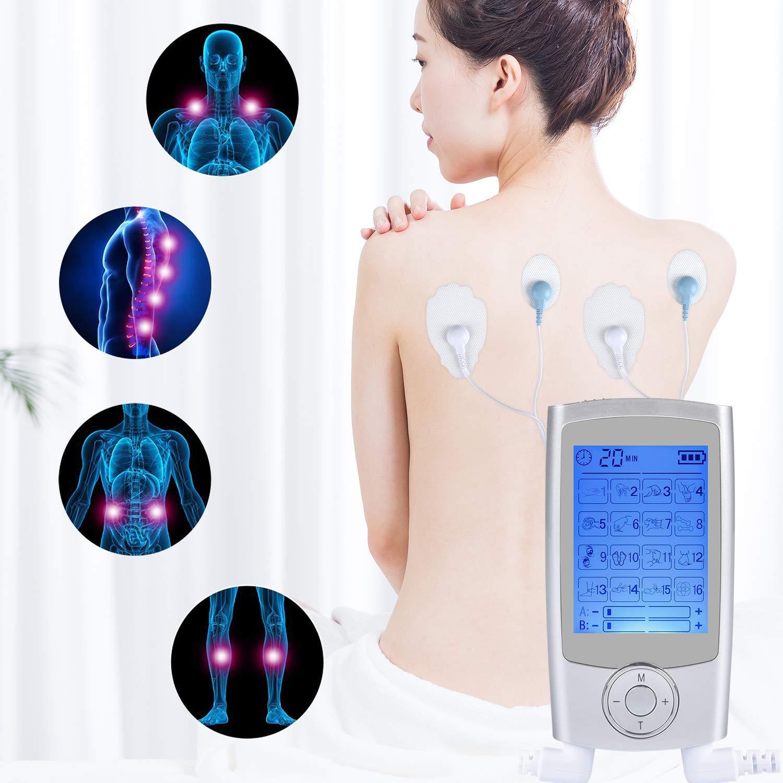 Ten UnitS Machine Pulse Massage 16 Massage Modes Rechargeable Pain Relief Muscle Stimulator Massager with 4 Pads