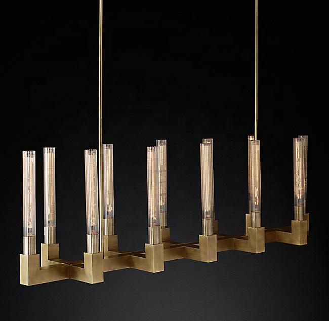 Роскошная декоративная люстра, современный винтажный подвесной светильник для отеля и ресторана, Cannele, линейный подвесной светильник 55