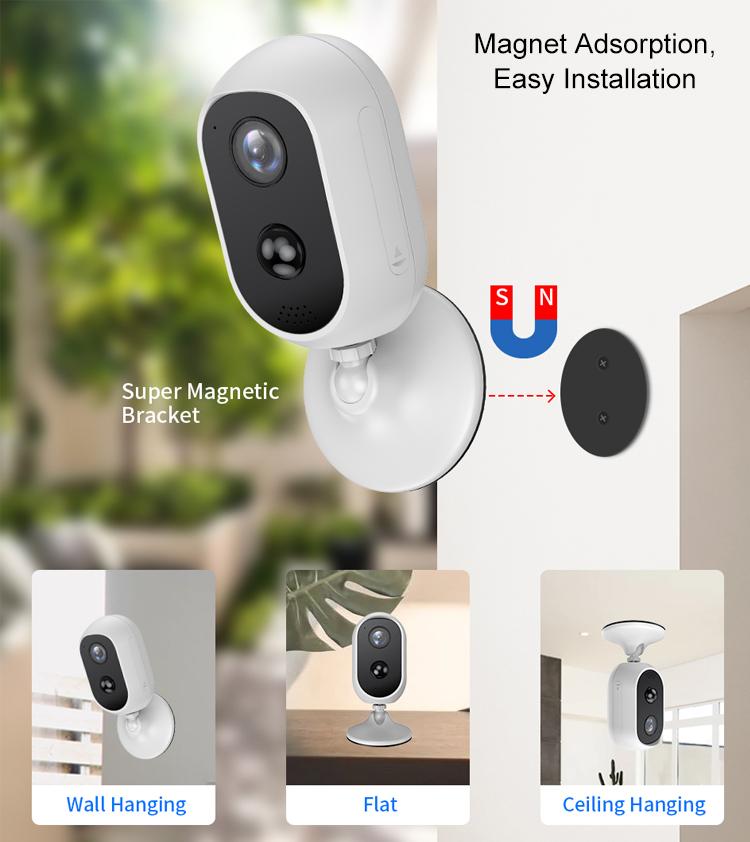 WiFi Camera Battery Powered 3.0MP HD Outdoor Wireless Security IP Camera Surveillance
