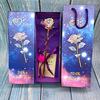 Lampwire colorful gold rose+starry sky gift box+handbag+certis