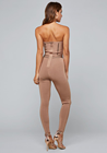 Crystals Newest Design Hot Selling Ladies' Sexy Bandage Zipper Back Spark Crystals Jumpsuit