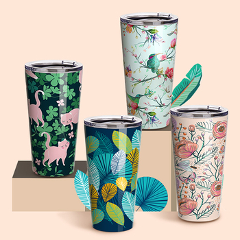 2020 PYDLife Wholesale Full Print Double Walled Coffee Cups Sublimation Stainless Steel Travel Tumbler Cups In Bulk