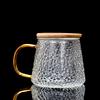 Wooden lid tea cup