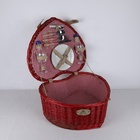 Heart shape picnic basket wicker for Valentine's Day