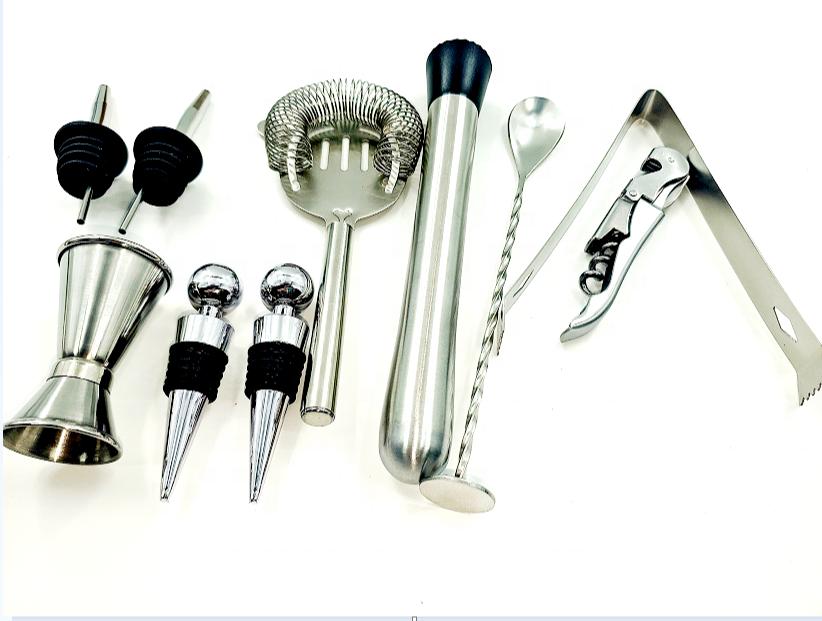 12 pieces Cocktail shaker set Mixology Bartender kit Bar Tool Barware set Bar accessories