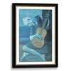 Rope Wooden Frame Black & Gold(Self Matted In Canvas)