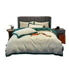Bedding In Sheets Bed Set Best Selling Bed Sheets 4 Piece Cotton Velvet Embroidery Bedding Set In China