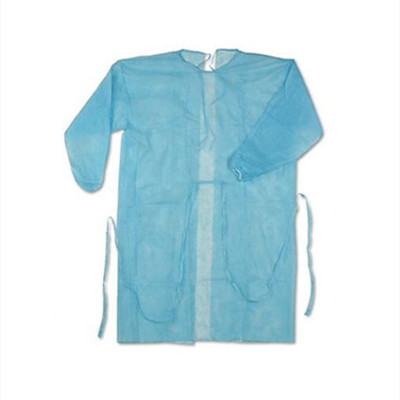 Washable Reusable Pe Coated PP 30 gsm Isolation gown - KingCare   KingCare.net