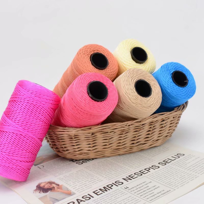 Special Sale Dyed 3ply 100% Nylon Yarn High Stretch Threads for Hand Knitting Crochet Football Socks Summer Hats Shoes Uppers