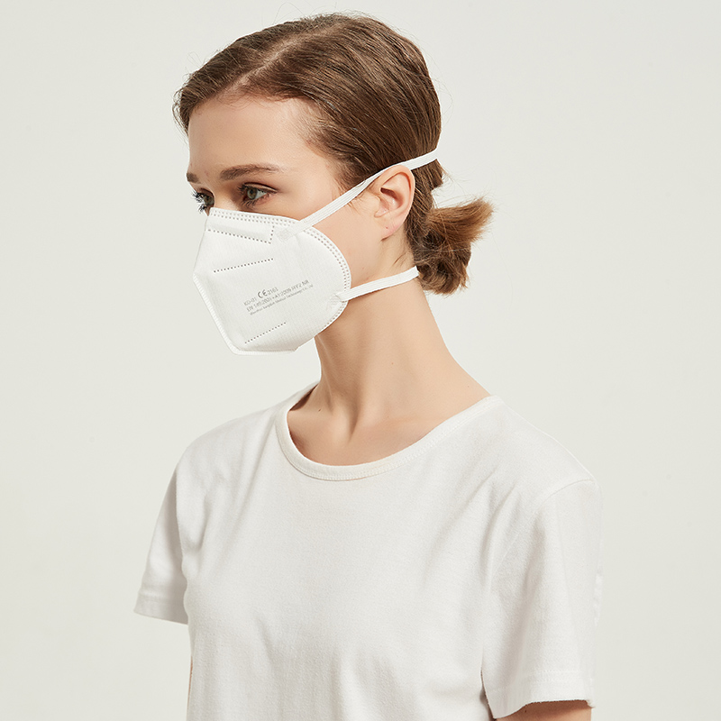 Factory wholesale high quality custom logo white ce 2163 Head-mounted ffp2 mask ,ffp2 mask ce 2163