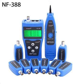 NF-388 Multipurpose Network Ethernet LAN Phone Audio Cable Tester with 8 Far-ends