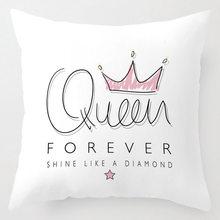 Чехол на подушку для девочек, милый розовый Чехол на подушку с рисунком оленя, медведя, кролика, Кита, русалки, единорога(Китай)