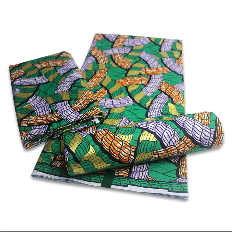 Best quality 100% cotton wax fabric african 2021 wax golden wax fabric