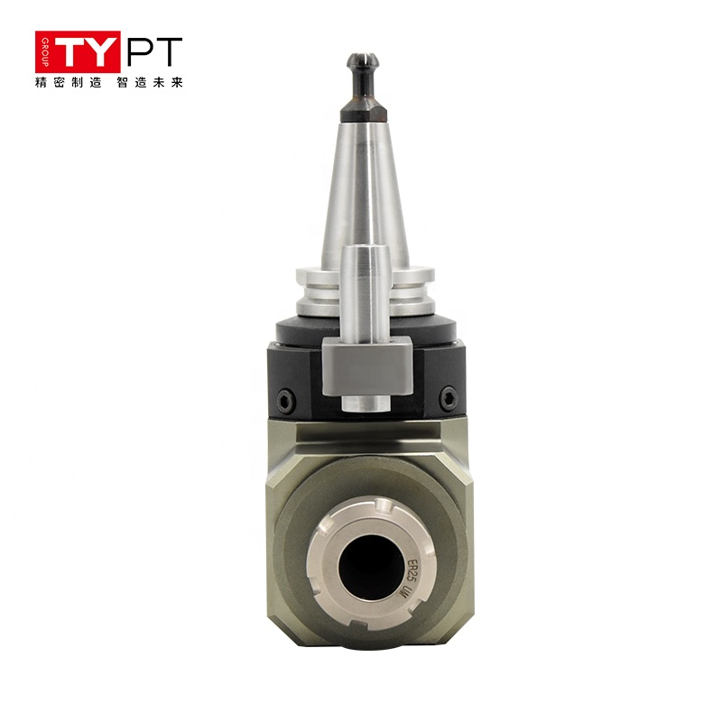 CNC tool holder double head ER25 output milling machine drilling boring spindle Angle Head for sale