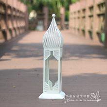 Золотая Свеча фонарь Открытый Отдых Марокканская ветровая лампа полый подсвечник Романтическая свадьба центральный Mumluk домашний декор FC09(Китай)